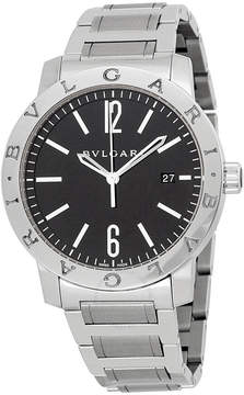 Bvlgari Automatic Black Dial Stainless Steel Men's Watch