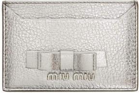Miu Miu Silver Bow Card Holder