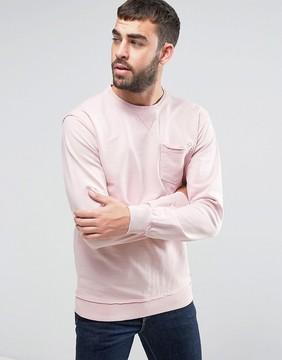 Blend of America Pink Pocket Sweater