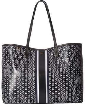 Tory Burch Gemini Link Tote Tote Handbags - BLACK GEMINI LINK STRIPE - STYLE