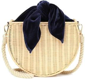 Kayu Dylan wicker shoulder bag