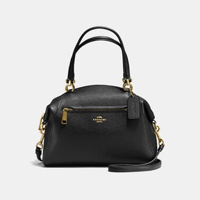 COACH Coach Prairie Satchel In Polished Pebble Leather - LIGHT GOLD/BLACK - STYLE