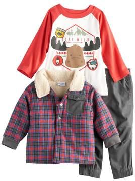 Nannette Baby Boy 3-pc. Plaid Jacket