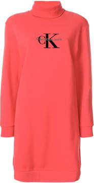 Calvin Klein Jeans logo sweater dress