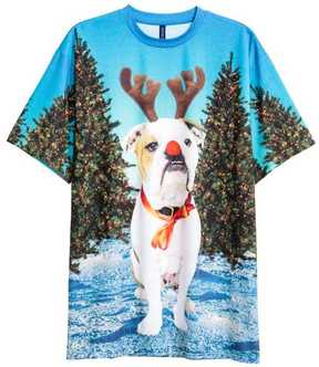 H&M T-shirt with Christmas Motif