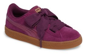 Puma Girl's Basket Heart Sneaker