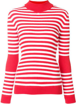 Courreges striped knitted top
