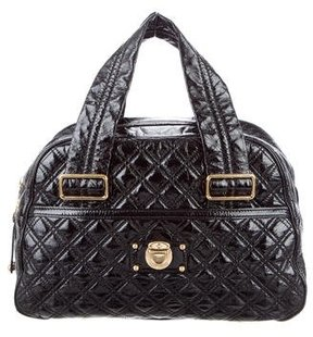 Marc Jacobs Quilted Leather Bag - BLACK - STYLE