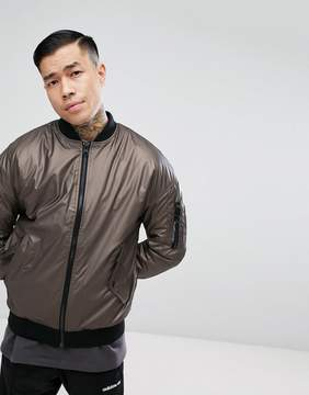 New Look Bomber With MA1 Pocket In Bronze