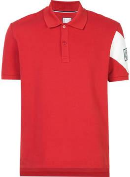 Moncler Gamme Bleu constrast stripe polo shirt