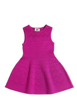 Milly Minis Zigzag Embossed Viscose Knit Dress