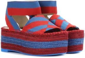 Stella McCartney Striped espadrille platform sandals