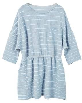 MANGO Stripe textured dress