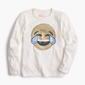 J.Crew Girls' laughing emoji long-sleeve T-shirt