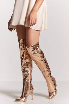 Forever 21 Metallic Over-the-Knee Boots