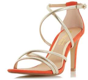 Head Over Heels *Head Over Heels by Dune Gold 'Maggda' High Heeled Sandals