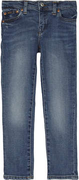 Ralph Lauren Blue Contrast Stitch Luxury Eldridge Skinny-Fit Denim Jeans 2-7 Years