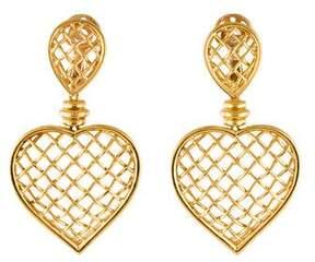 Boucheron 18K Heart Cage Drop Earrings