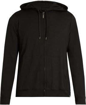 Derek Rose Basel zip-up jersey hooded sweatshirt