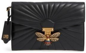 Gucci Queen Margaret Matelasse Leather Clutch - Black - BLACK - STYLE