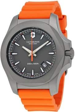 Victorinox I.N.O.X. Grey Dial Men's Orange Rubber Men's Watch