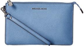 MICHAEL Michael Kors Daniela Medium Wristlet Wristlet Handbags - BURNT RED - STYLE