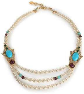 Ben-Amun Gold-Tone Stone And Crystal Beaded Necklace