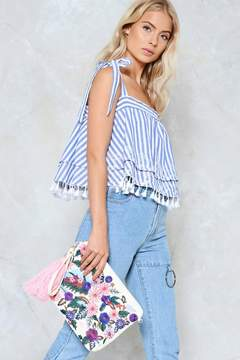 nastygal WANT Is It in My Thread Floral Crossbody Bag