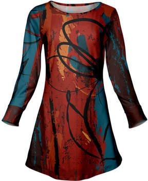 Azalea Red & Blue Abstract Scoop Neck Tunic - Women & Plus