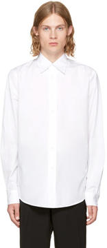 Marni White Long Sleeve Panelled Sport Shirt