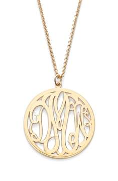 Argentovivo Women's Personalized 3-Letter Monogram Necklace