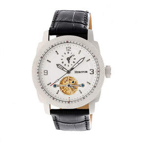 Heritor Helmsley Mens Black Strap Watch-Herhr5005
