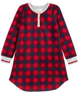 Petit Lem Little Girl's & Girl's Checkered Nightgown