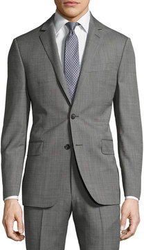 DKNY Slim-Fit Solid Wool Two-Button Suit, Gray