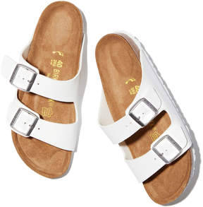 Birkenstock Arizona Sandal in White/Birko-Flor, Size IT 36