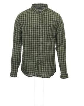 Converse 'Black Canvas' Yellow Green Plaid Button Down Shirt Sport
