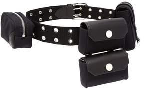J.W.Anderson Multi Pocket Canvas Belt Bag - Womens - Black
