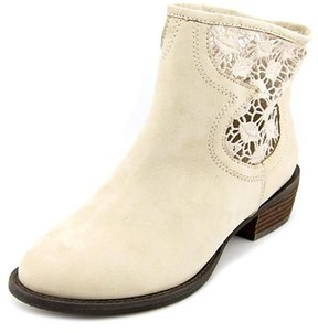 Very Volatile Stevie Round Toe Leather Ankle Boot.