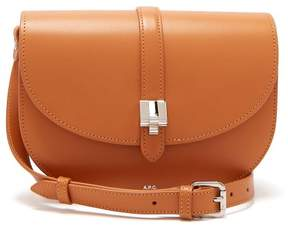 A.P.C. Isilde Leather Saddle Bag - Womens - Camel