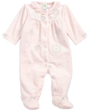 Little Me Infant Girl's Snowflake Footie