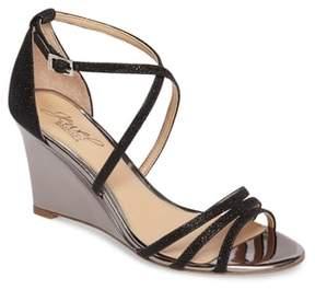 Badgley Mischka Hunt Glittery Wedge Sandal