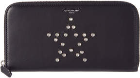 Givenchy Mirror Rivets Long Leather Zip Around Wallet