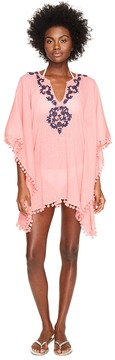 Letarte Embroidered Poncho Women's Swimwear