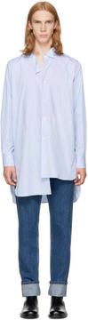 Loewe Blue Striped Asymmetric Shirt