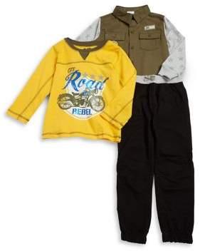 Nannette Little Boy's Three-Piece Jogger Pants Set