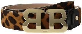 Bally Mirror B Adjustable Pony Hide Belt Men's Belts