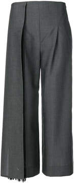 Chalayan flared cropped trousers