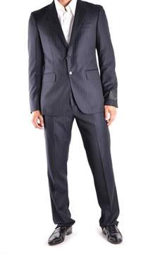 Richmond Men's Black Wool Suit.