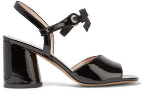 Marc Jacobs Wilde Crystal-embellished Patent-leather Sandals - Black