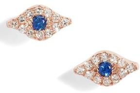 Ef Collection Women's Evil Eye Diamond & Sapphire Stud Earrings